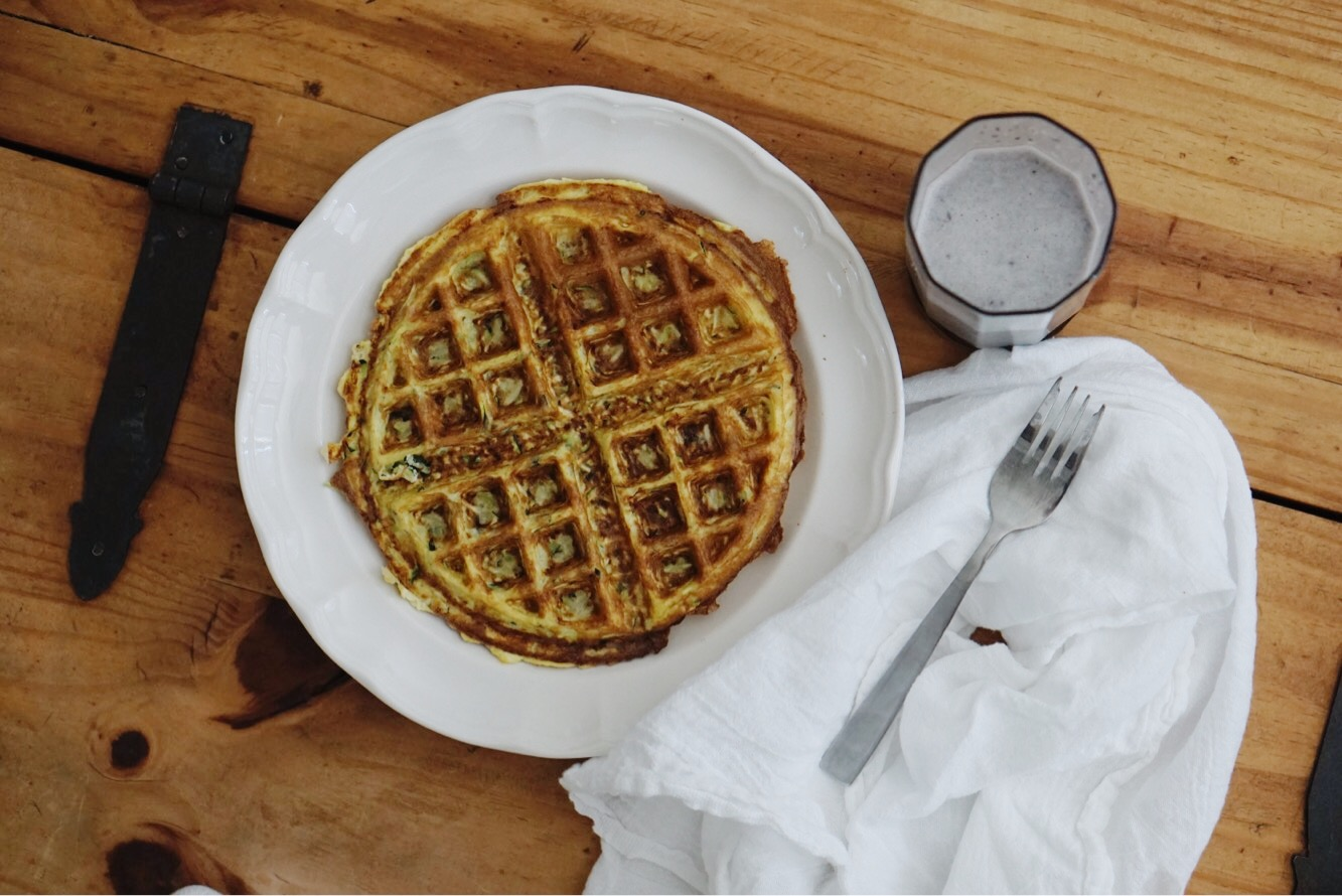 Simple & Substantial Zucchini Egg Waffle